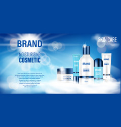 cosmetic product bottle ad design realistic spray vector image