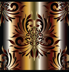 Damask 3d seamless pattern silk drapery vector