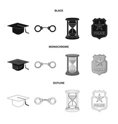 design of law and lawyer icon set of law vector image