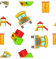 Elementary school pattern cartoon style vector