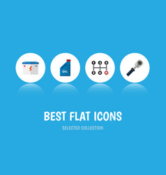flat icon workshop set of petrol carrying vector image