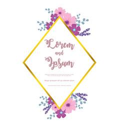 flowers wedding flower invitation elegant invite vector image