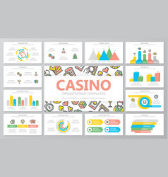 gambling and casino multipurpose presentation vector image