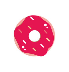 glaze donut sweet confectionery snack food candy vector image