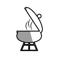 grill cooking food roasted picnic shadow vector image