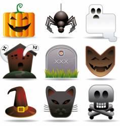 Halloween utilities vector image
