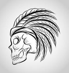 Hand Drawn Skull Sketch vector