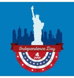 Happy fourth of july Independence Day vector image
