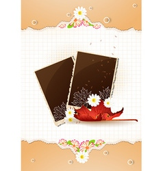 Happy thanksgiving day with photo frame vector