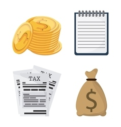 icon set Tax and Financial item graphic vector image