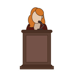 Lawyer in podium vector