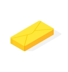 Mail isometric icon vector