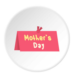 Mother day greeting card icon circle vector