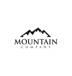 mountain company logo design template vector image