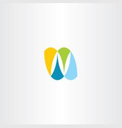 n logo letter nature symbol element vector image
