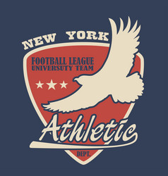 new york typography with eagle vector image