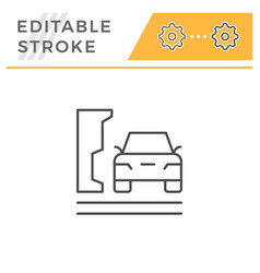 parking editable stroke line icon vector image