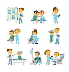 patient at the doctor s office medicine vector image