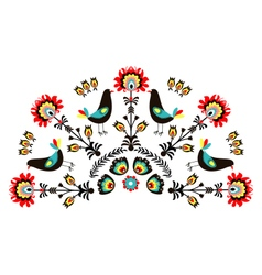 Pattern With Birds-a vector image