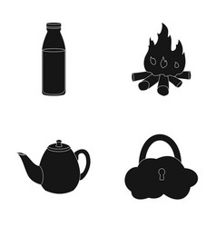 Products traditions and or web icon in black vector