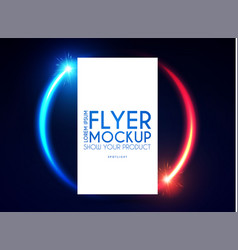 Realistic flying business card poster and flyer vector
