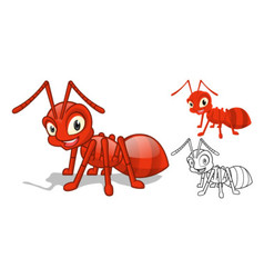 Red Ant Cartoon Character vector image