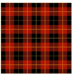 Red Tartan Plaid Design vector image