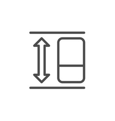 Refrigerator height line outline icon vector
