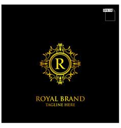 royal brand logo design vector image