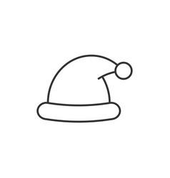 santa hat line icon vector image