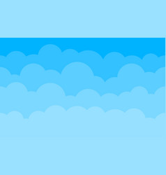 sky clouds background blue gradient cartoon vector image