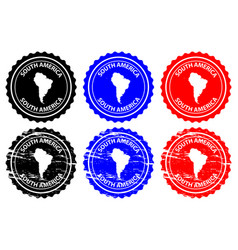 south america rubber stamp vector image