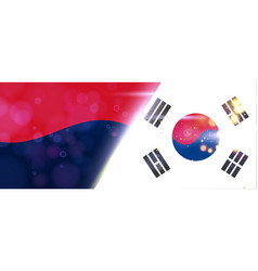 south korea banner or poster business corporate vector image