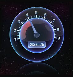 Speedometer interface background vector