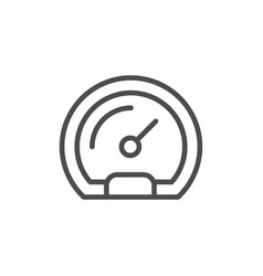 speedometer line icon and race concept vector image