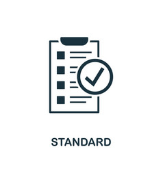 Standard icon symbol creative sign from vector