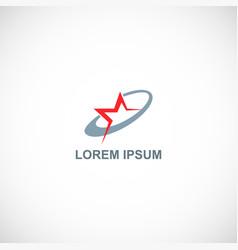 star technology company logo vector image