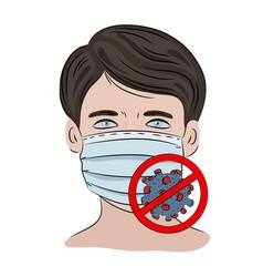Stop coronavirus ncov health earth human epidemic vector