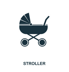 stroller icon mobile apps printing and more vector image