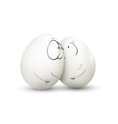 Sweet couple egg vector