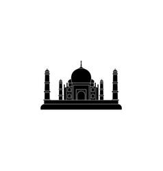 taj mahal icon black on white background vector image