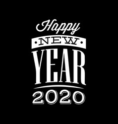 Template with congratulation for new 2020 year vector