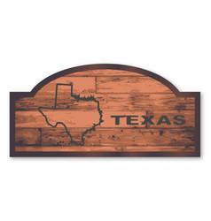 Texas wooden sign vector