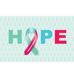 Thyroid cancer ribbon vector
