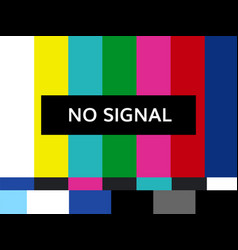 tv no signal design vector image