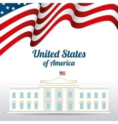 United states patriotism design vector image