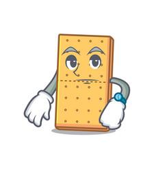 Waiting graham cookies mascot cartoon vector