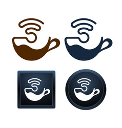Wifi coffee icons design minimal isolated vector
