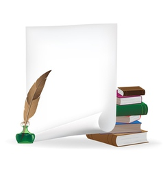 writing materials vector image
