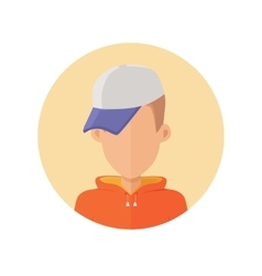 Young Man Avatar without Facial Features vector